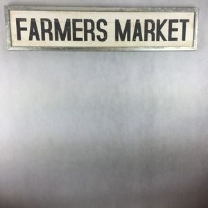 Other - Farmers Market Wood Sign w/ Metal Frame